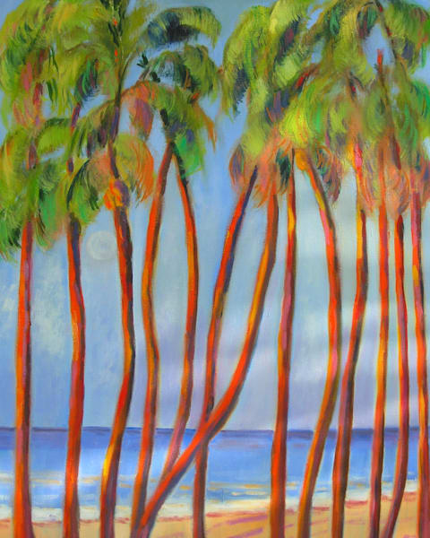 Dancing Palms, Original Acrylic Painting