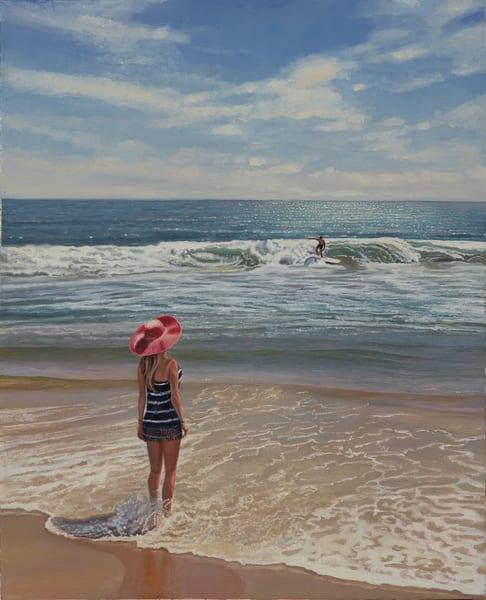 Afternoon At Carlsbad State Beach  Art | The Huntington Studio