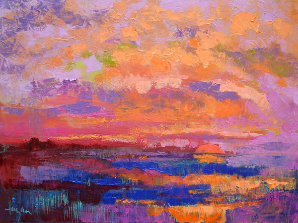 Twilight Sunset Canvas Print, Limited Edition by Dorothy Fagan