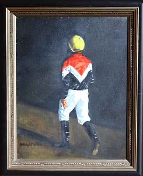 Original Oil Painting - The Jockey
