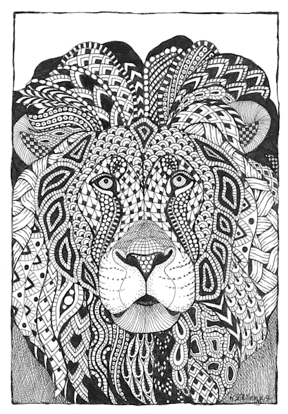 "Lion | Kristin Moger ""Seriously Fun Art"""