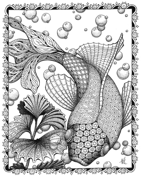 "Koi | Kristin Moger ""Seriously Fun Art"""