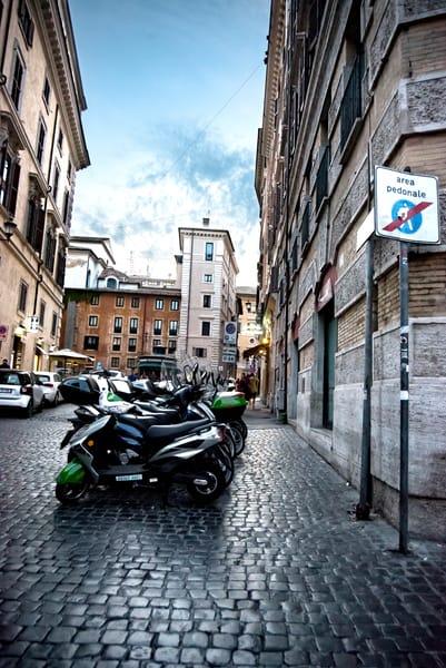 Rome Sant Eustachio Pantheon Wet Brick Streets 4779 Photography Art | Terri Bahun Fine Art Photography