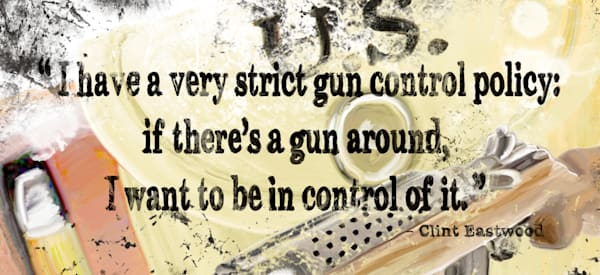 Gun Control (Small Metal Sign) Art | DARDISartgalleries