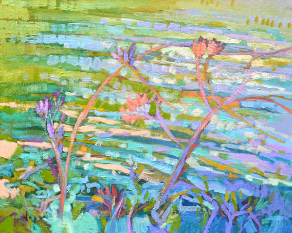 Pond Reflections Oil Painting by Dorothy Fagan