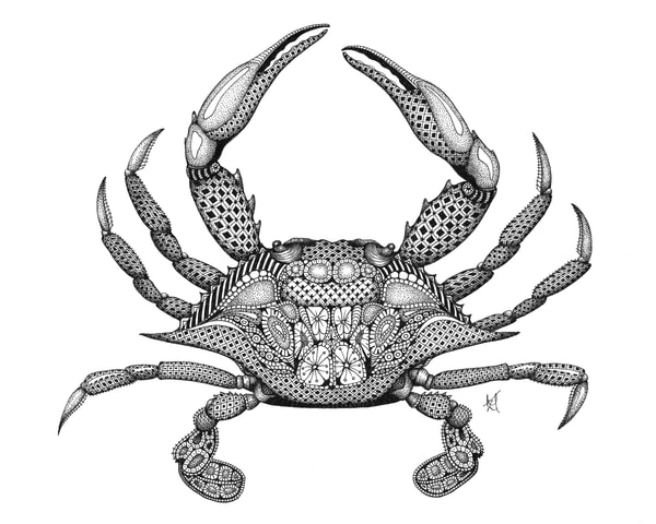 "Blue Crab by Kristin Moger ""Seriously Fun Art"""