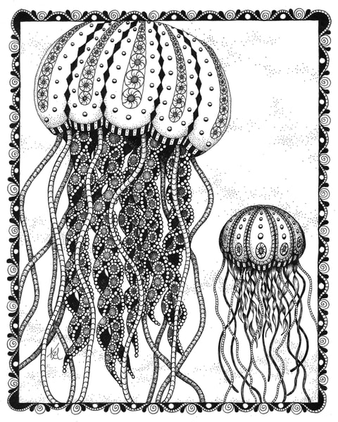 "Jellyfish | Kristin Moger ""Seriously Fun Art"""