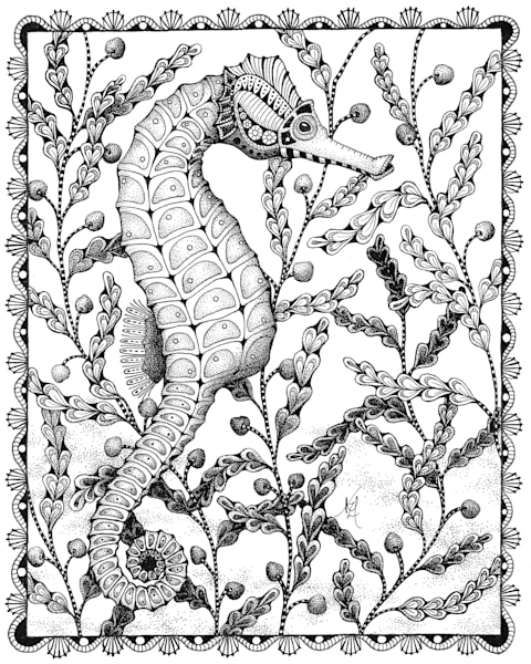 "Sea Horse by Kristin Moger ""Seriously Fun Art"""
