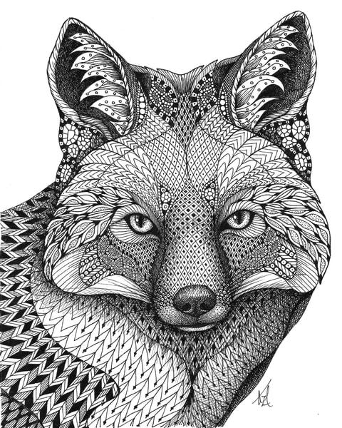 "Fox by Kristin Moger ""Seriously Fun Art"""