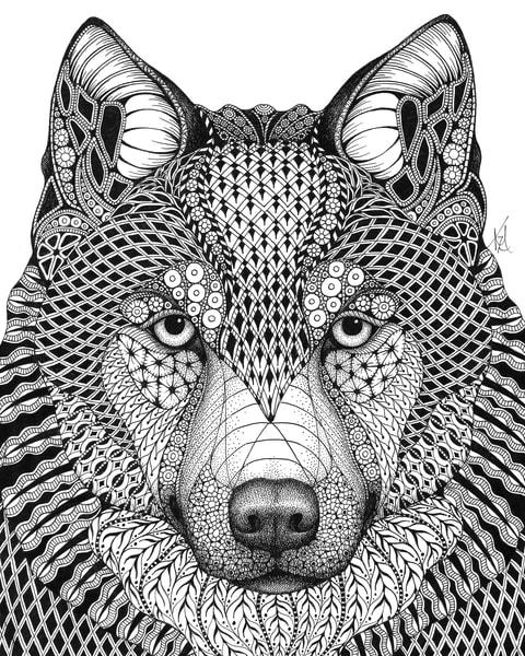 "Wolf | Kristin Moger ""Seriously Fun Art"""