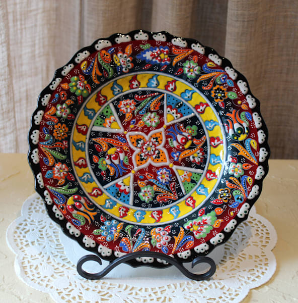 "10"" Hand-painted Turkish Plate"
