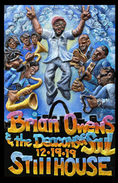 Brian Owens and the Deacons of Soul Artwork by David Spear