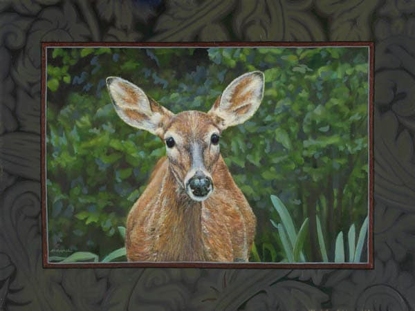 Deer Dawn painting Schapker