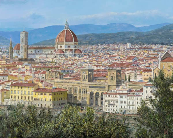 Florence oil painting Schapker