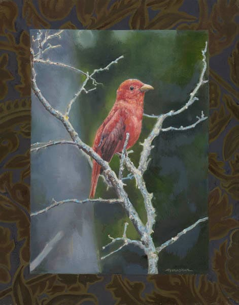 Schapker painting bird