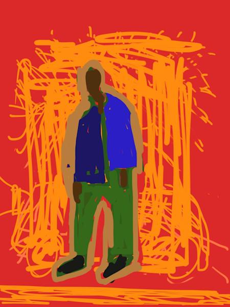 Sad Man Art   stephengerstman