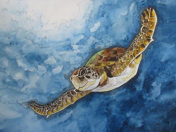 Gliding Turtle Art | Water+Ink Studios