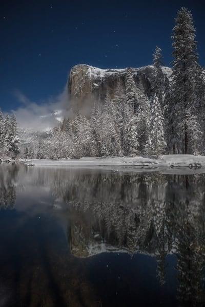 Yosemite's El Capitan  moonlit night | fine art print
