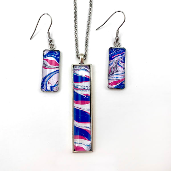 'gigi' Hand Painted Jewelry Set Art | Deborah Younglao Art