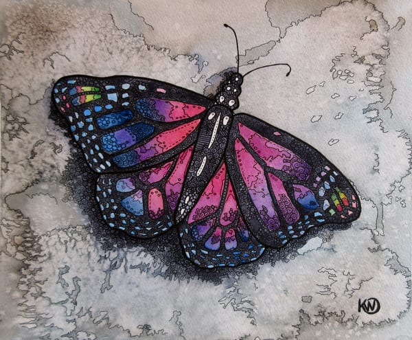 Amethyst Butterfly