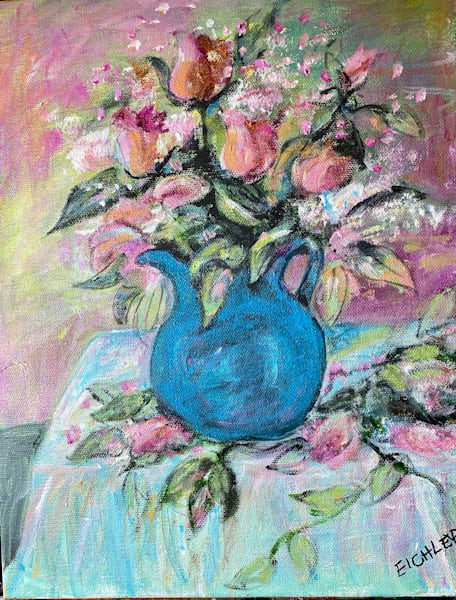 "Posy Pitcher Art | C.A.S.H. Art ""all things artistic"""