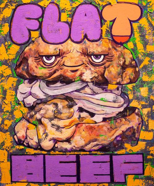 Flat Beef Burger! Art | Matt Pierson Artworks