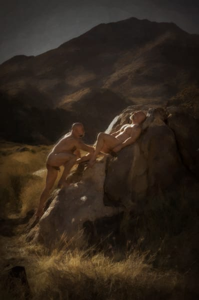 The Sunbathers, men of a certain age, Ben Fink art prints, photo