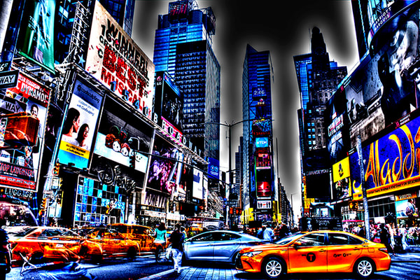 Times Square Cab Photography Art | mikelindwasserphotography