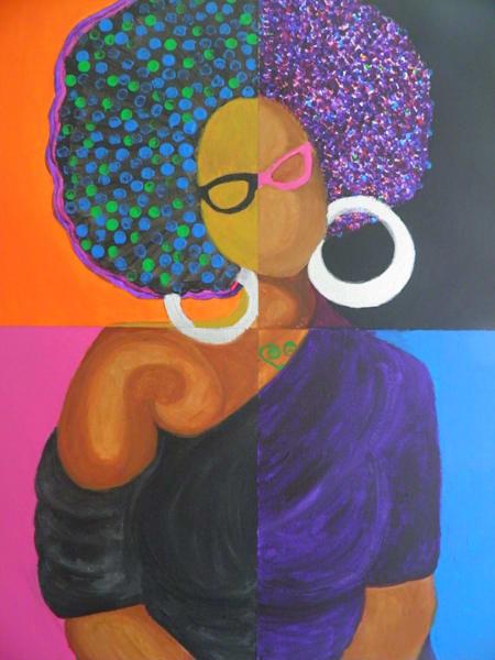 Self-portrait V, Acrylic on canvas