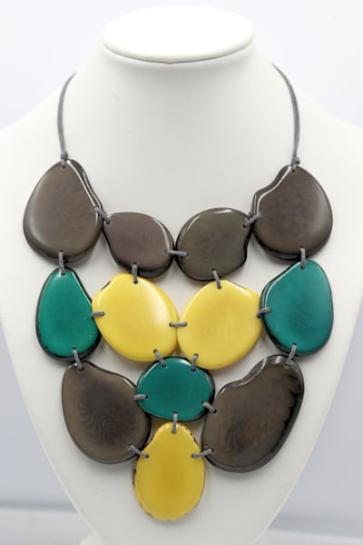 Handmade Tagua Nut Jewelry Necklace