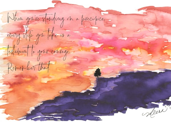 Edge of Courage Watercolor Print