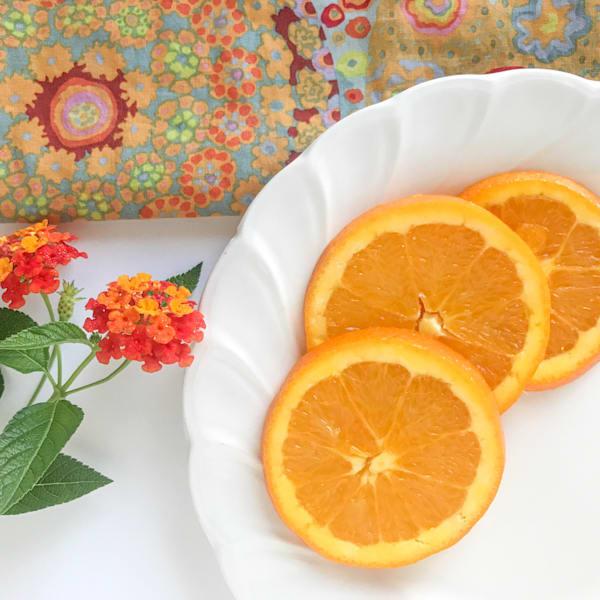 Lantana And Orange Slices Art | Jenifer Cady Photography