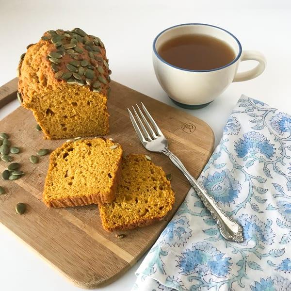 Pumpkin Bread and Tea
