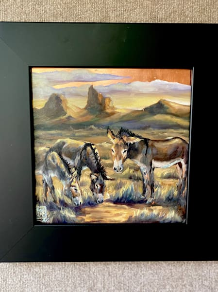 The Oatman Burros   Copper State Series Art | Ans Taylor Art