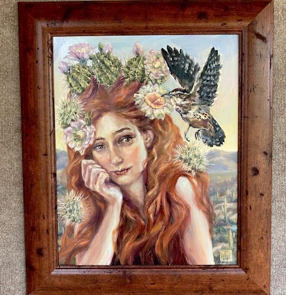 Cactus Queen: Wrensome Art | Ans Taylor Art