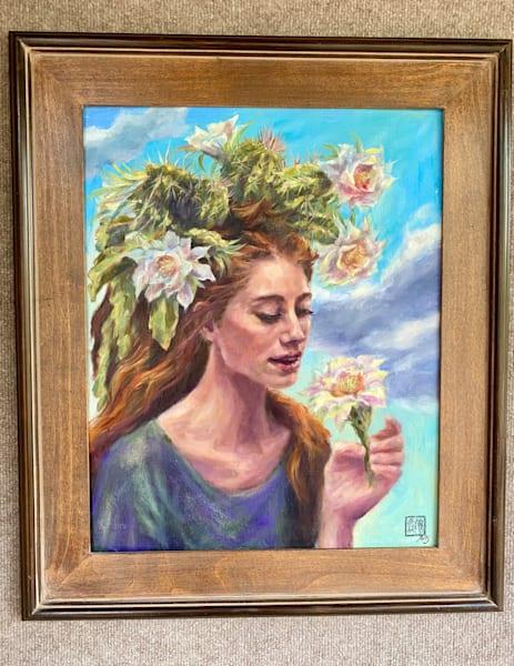 Cactus Queen: Desert Lilly Art | Ans Taylor Art