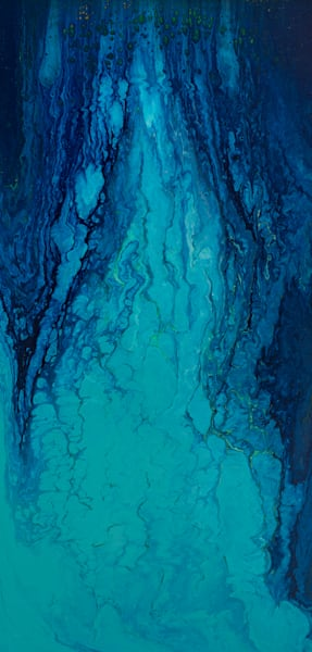 geological abstractions collection, water, ice, blues, waterfall, abstract
