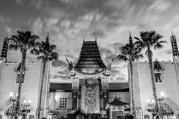 Disneys Chinese Theater Black and White - Disney Black and White Photos