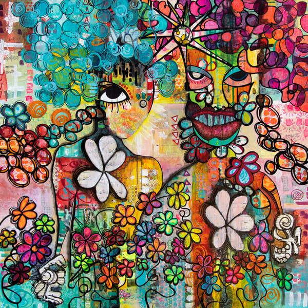 Masked Woman Art | Becka Watkins Art