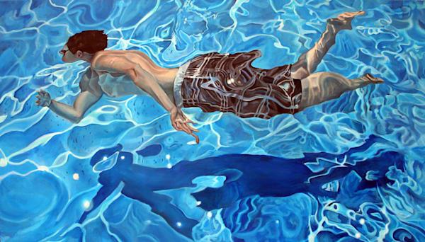 Swim, Painting, Spear