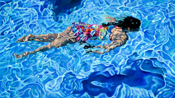 Swimmer, Painting, Spear