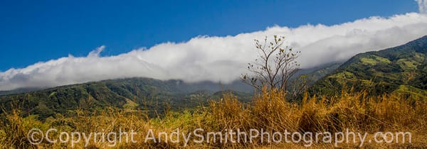 fine art photograph of clouds over the mountains in Costa Rica