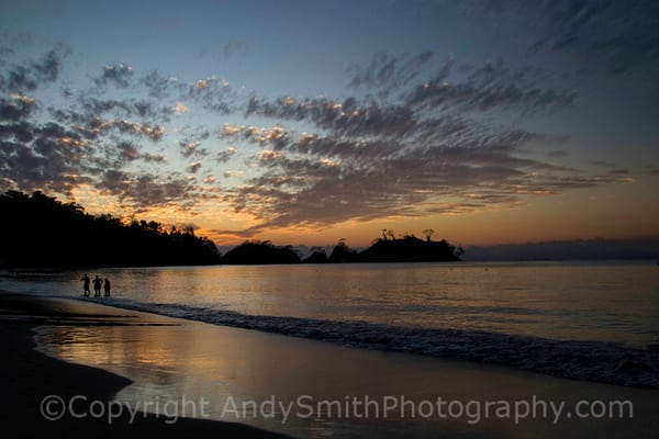 fine art photograph of sunset in Punta Leone, Costa Rica,