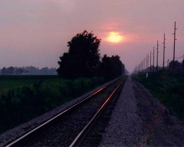 Sunset On The Tracks  Art   Bellz Artistry