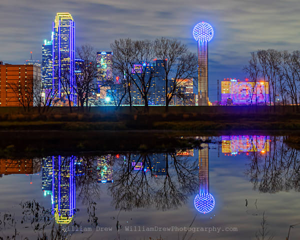 Dallas Skyline Reflection - Dallas, TX Wall Murals
