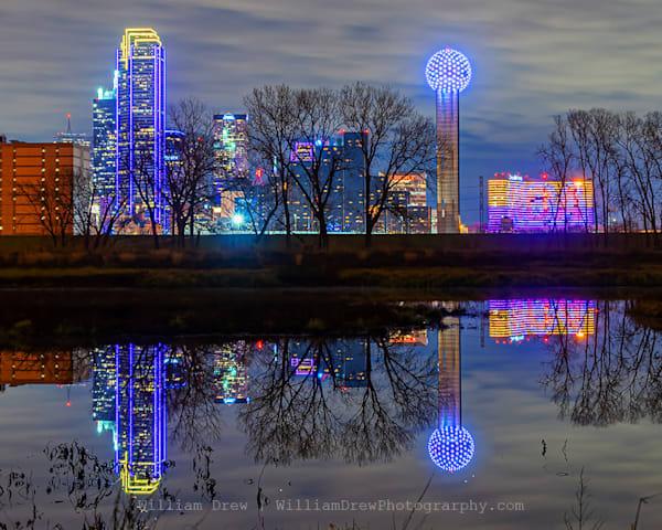 Dallas Skyline Reflection - Dallas, TX Wall Murals