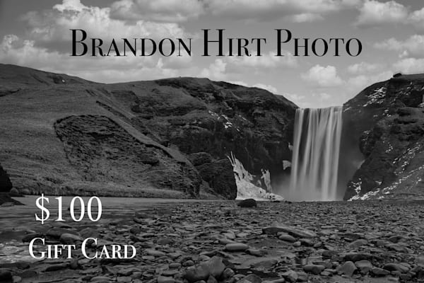 $100 Gift Card | Brandon Hirt Photo