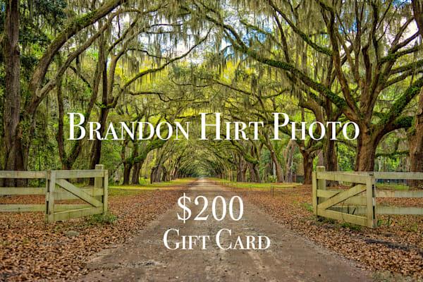 $200 Gift Card | Brandon Hirt Photo