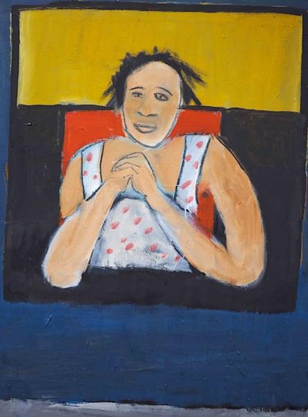 Sitting Woman Art   stephengerstman