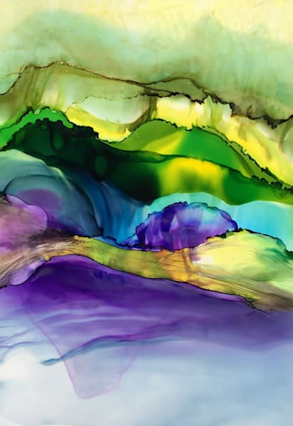 Waterscape with Violet